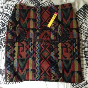colorful Catherine Malandrino patterned skirt 10